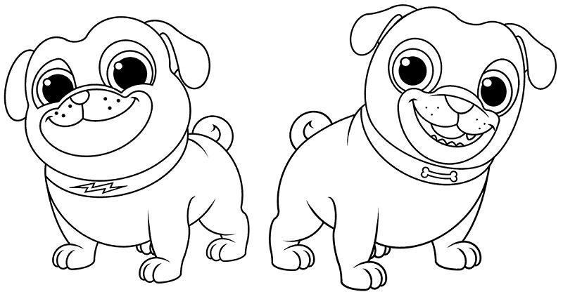 Dibujos Para Colorear Puppy Dog Pals Dibujos Para Colorear