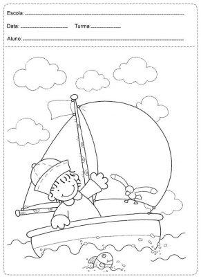 Atividades com barcos para idade pré-escolar