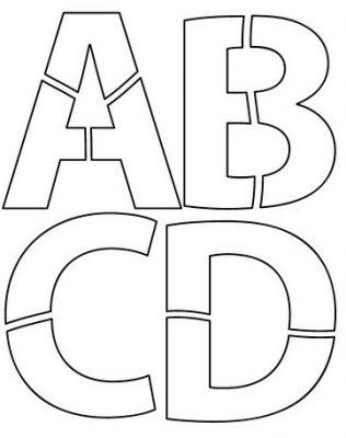 Quebra-Cabeças pré-escolar com as letras do Alfabeto