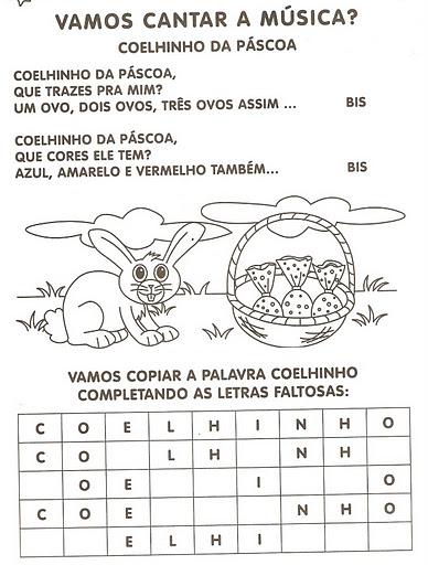 Atividades sobre a Páscoa para pré-escolar e 1º ciclo -1