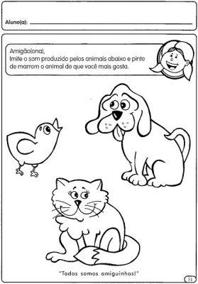 Atividades com animais para educação infantil