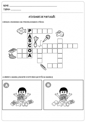 Atividades De Alfabetização E Matemática Sobre A Páscoa Educação