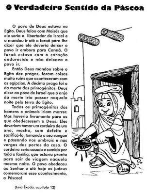 Textos e atividades de interpretação sobre a Páscoa