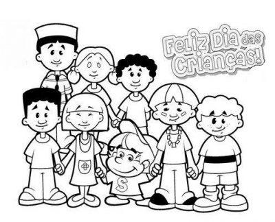 Atividades de colorir para o dia das crianças