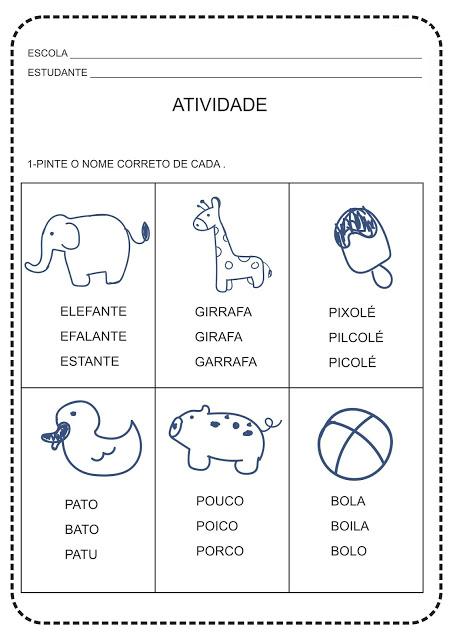 New Social - atividades reconhecimento de palavras