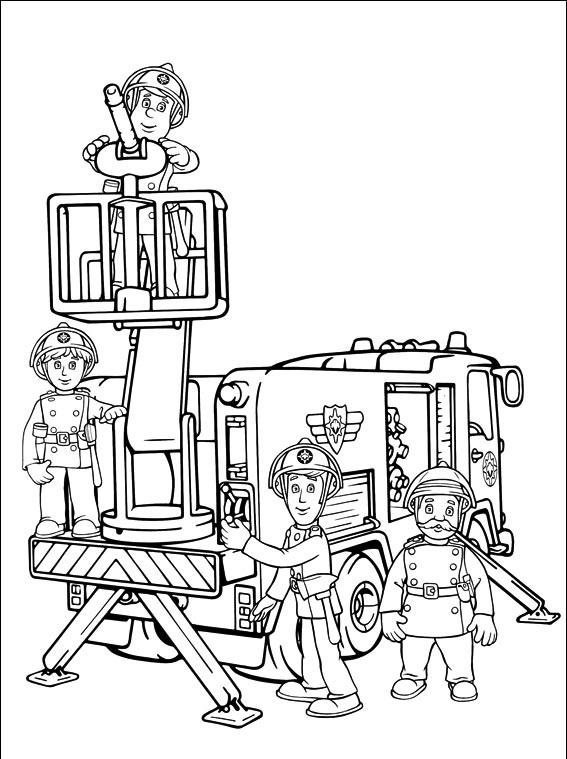Desenhos de bombeiros para imprimir e colorir