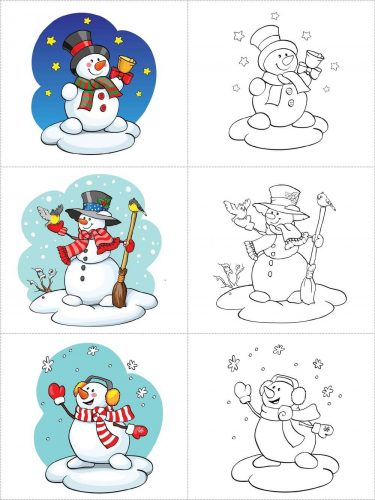Jogo de memória e pintura para o Natal