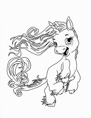 Desenhos para imprimir e colorir Unicórnio