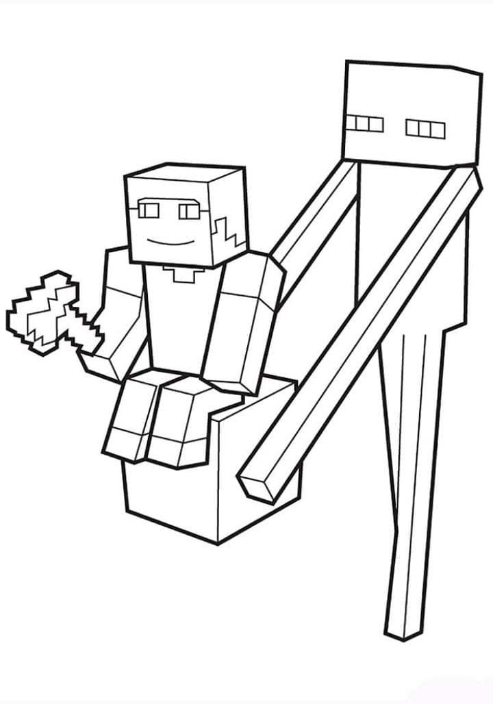 Desenhos Do Minecraft Para Colorir 10 Fichas E Atividades