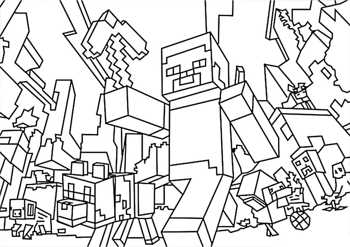 Desenhos Do Minecraft Para Colorir 17 Fichas E Atividades