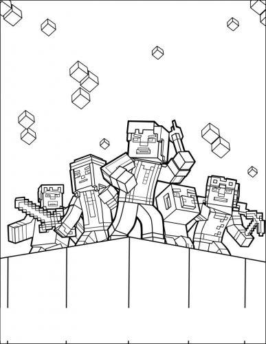 Desenhos Do Minecraft Para Colorir Educacao Online