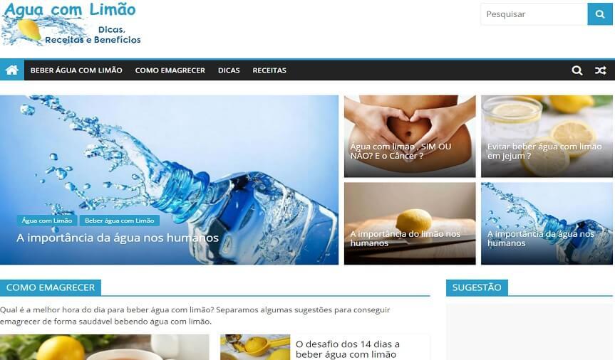 Água com Limão - Dicas, receitas e benefícios